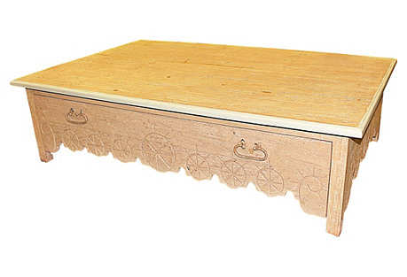 Large Distressed Coffee Table