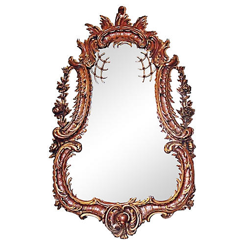 1850s Carved French Rococo-Style Mirror