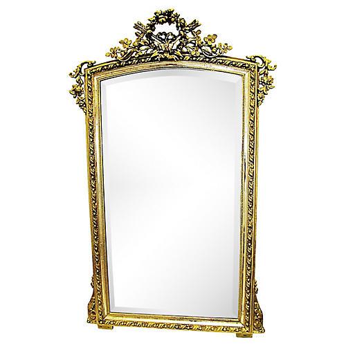 French Gilt & Silver Mirror
