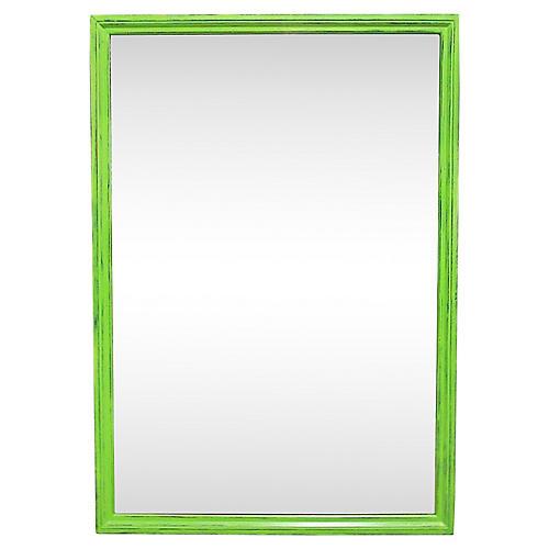 Midcentury Green Mirror