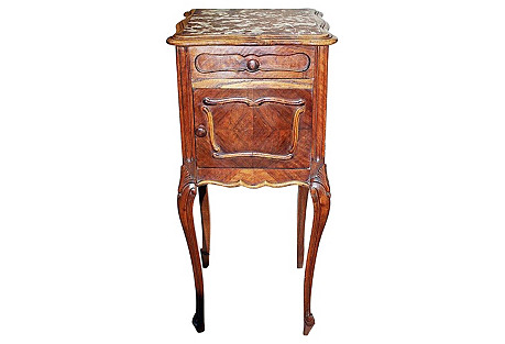 French Louis XV-Style Nightstand