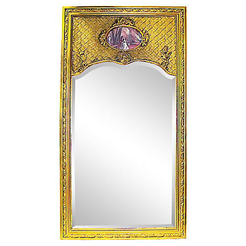 19th-C. French Trumeau Mirror