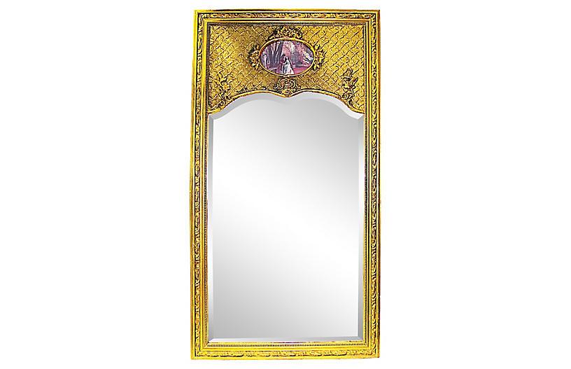 19th-C. French Trumeau Mirror
