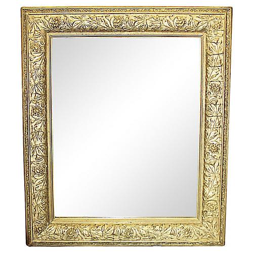 Antique Gilt Floral-Motif Mirror