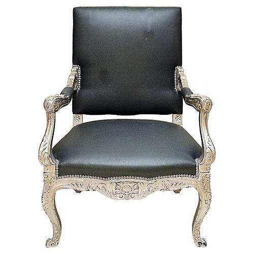 Antique Silvered Armchair