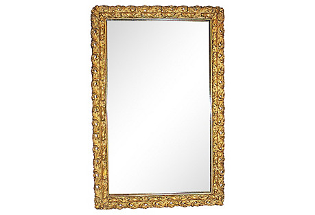 Antique American Gilt Mirror