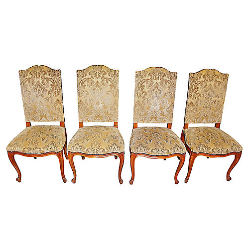 French Louis XV-Style Chairs, S/4