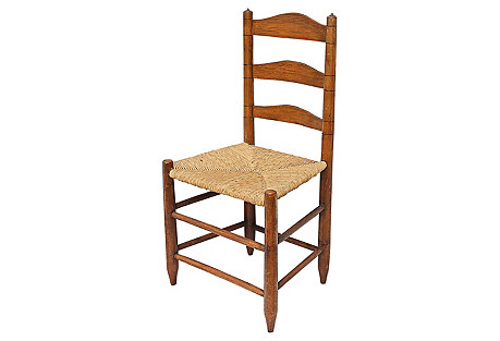 19th-C. American Country Chair