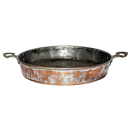 Rustic Copper & Brass pan
