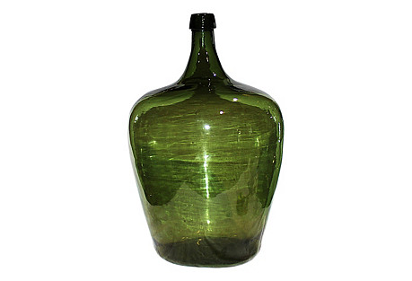 Demijohn Antique Blown Glass Bottle