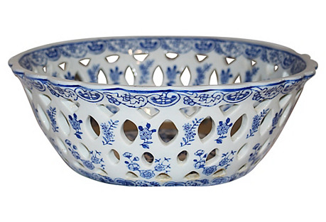 Reticulated Blue&White Bowl