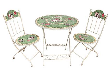 Tile-Mosaic Cafe Set, 3 Pcs