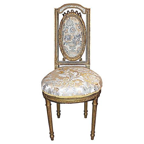 French Louis XVI-Style Petite Chair