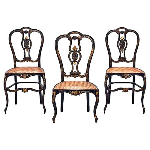 French Regency Side Chairs, S/3