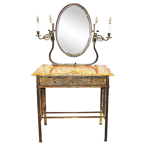French Brass Vanity