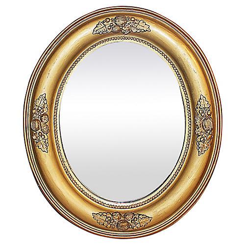 Antique Oval Gilt Mirror