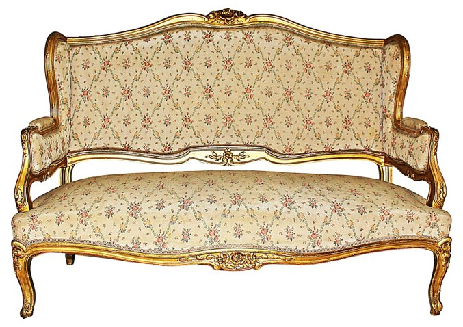 Antique French Loveseat Sofas Settees Living Room Furniture One Kings Lane