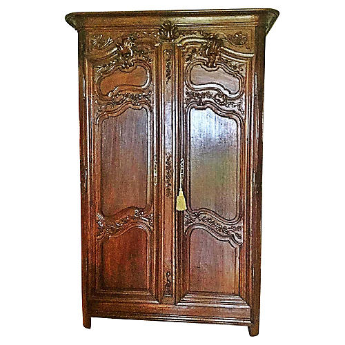 18th-C. French Carved Armoire