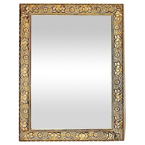 Antique Gilt Gesso Mirror