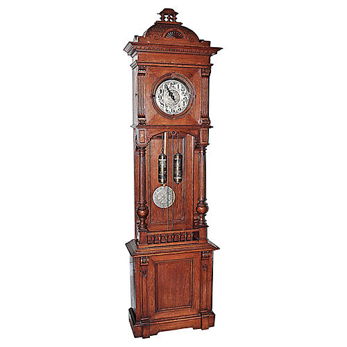 German Tall-Case Grandfather Clock