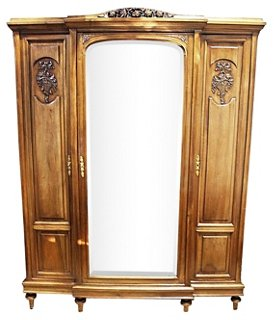 Exceptional French Walnut 3 Door Armoire   Armoires   Dressers U0026 Armoires   Bedroom    Furniture | One Kings Lane