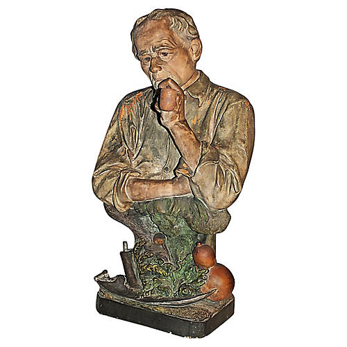 Antique French Terracotta Figurine