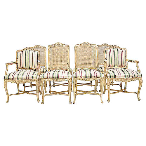 Country French Dining Chairs, S/8