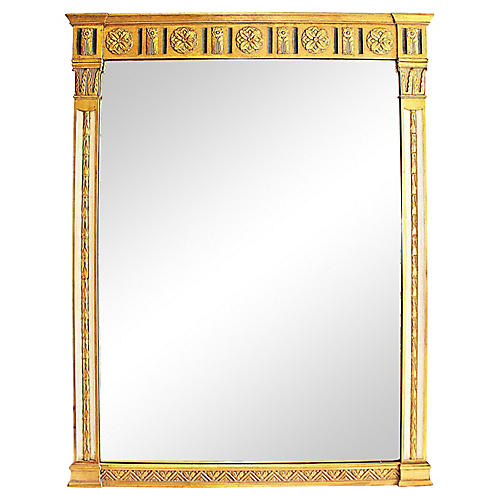 Gilt and Painted Neoclassical Mirror