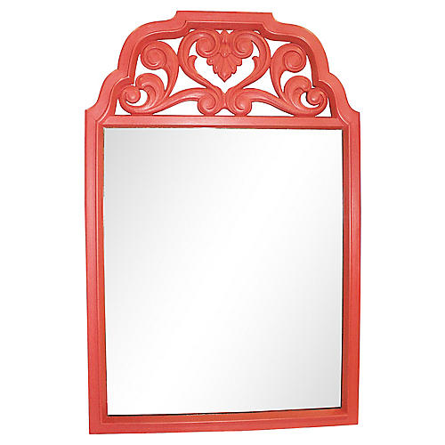 Midcentury Coral Resin Mirror