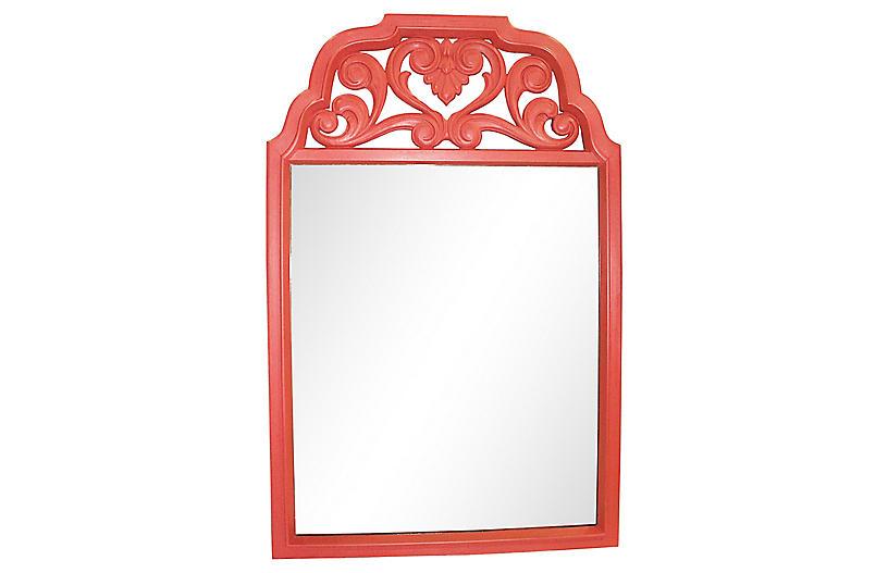 Midcentury Coral Resin Mirror