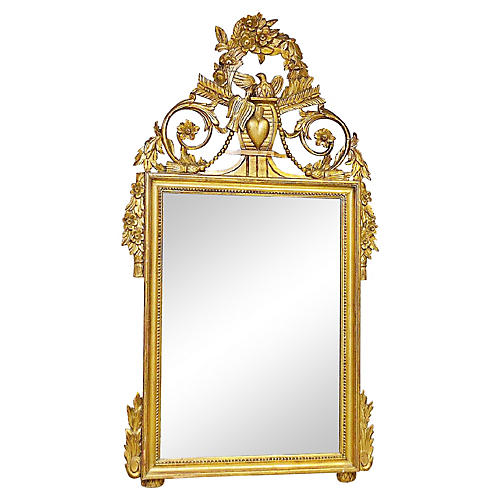 Carved Italian Gilt Mirror