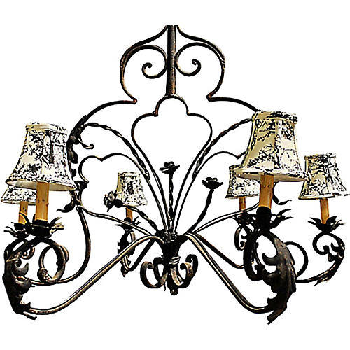 Wrought Steel Chandelier