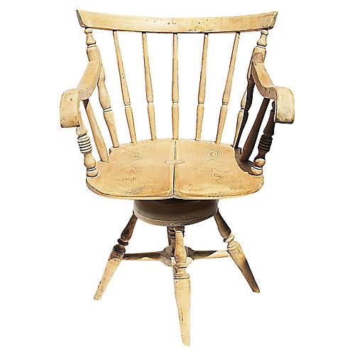 Antique Danish Desk Chair