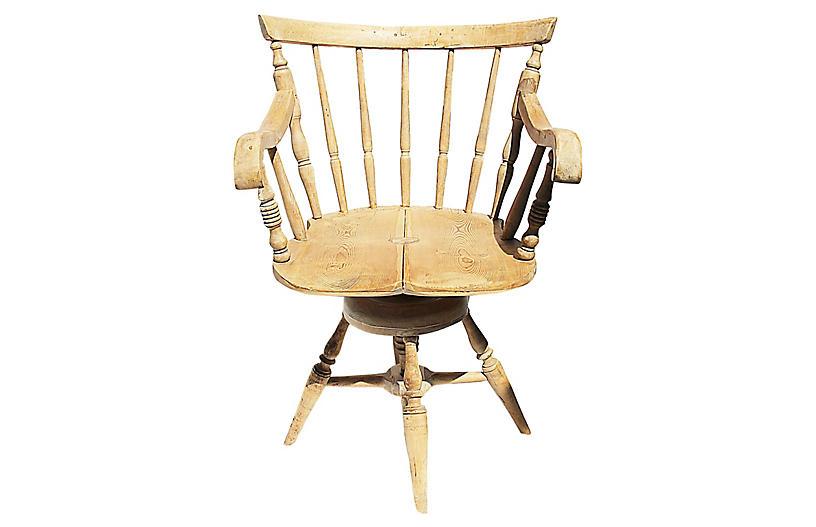 Peachy Antique Danish Desk Chair Chairs Under 500 Shop By Uwap Interior Chair Design Uwaporg