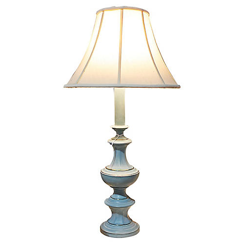 Painted Brass Table Lamp