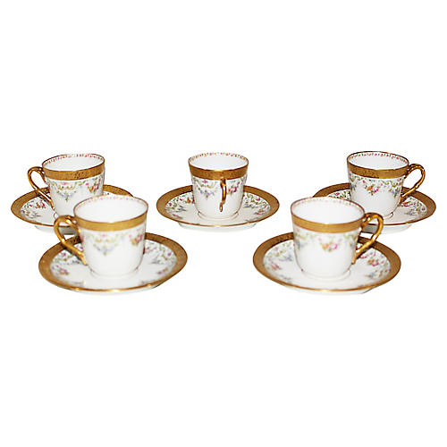 Limoges Espresso Cups, S/5