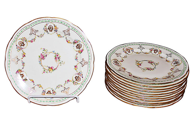 Cauldon Bone China Plates, S/12
