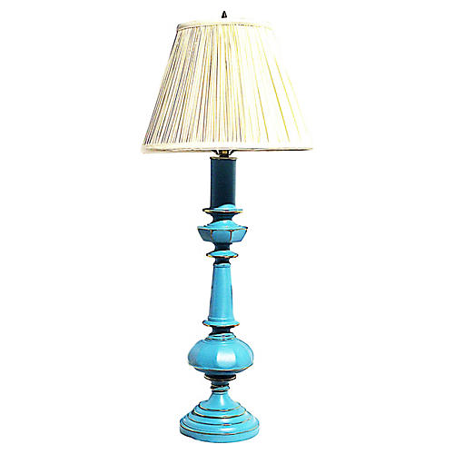Painted Brass Lamp