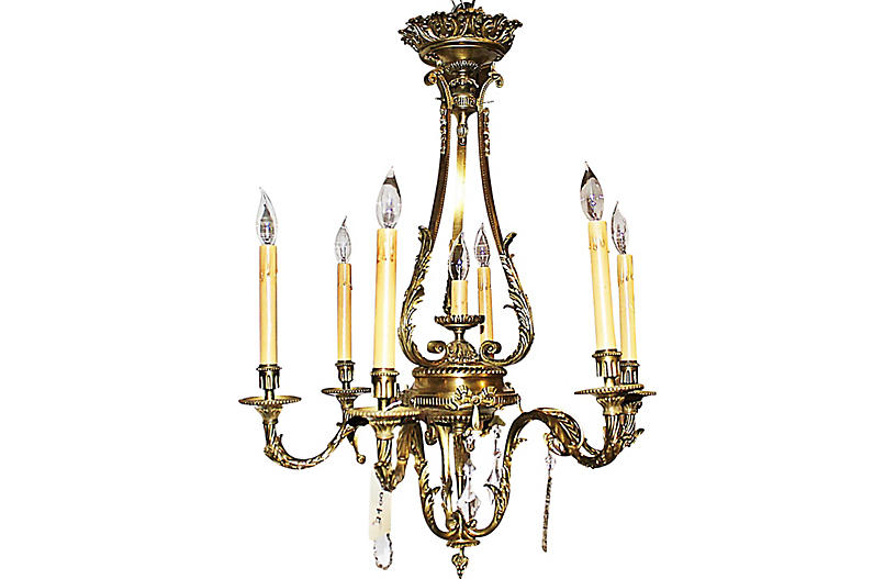 French Empire Doré-Bronze Chandelier