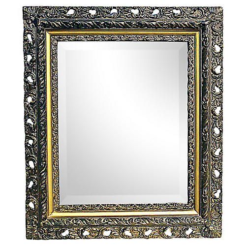 Antique American Beveled Mirror