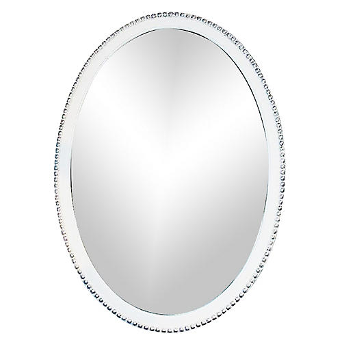 Oval Painted Mirror