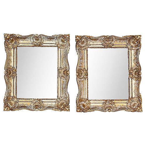 Burwood Regency Mirrors, Pair