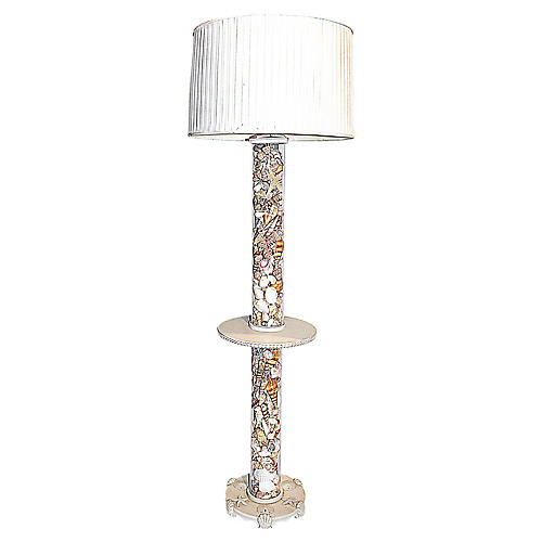 Shell-Filled Floor Lamp