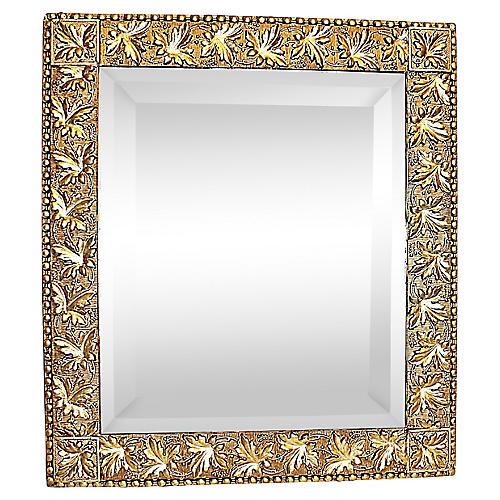 Antique American Gilt & Silver Mirror