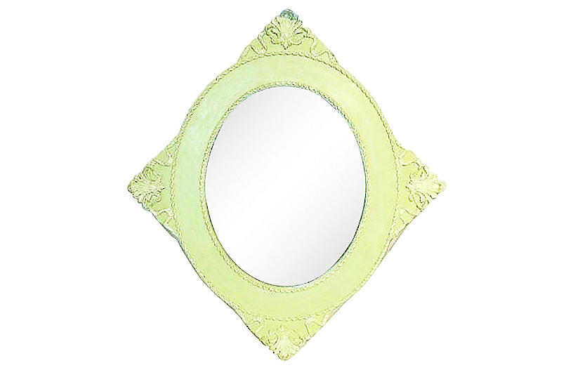 Antique Diamond Wall Mirror