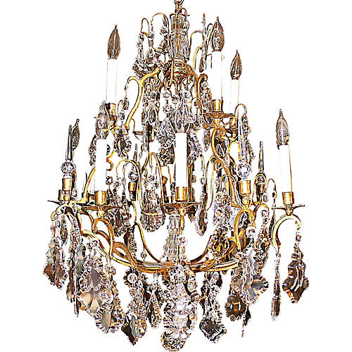 Baccarat-Style Crystal Chandelier
