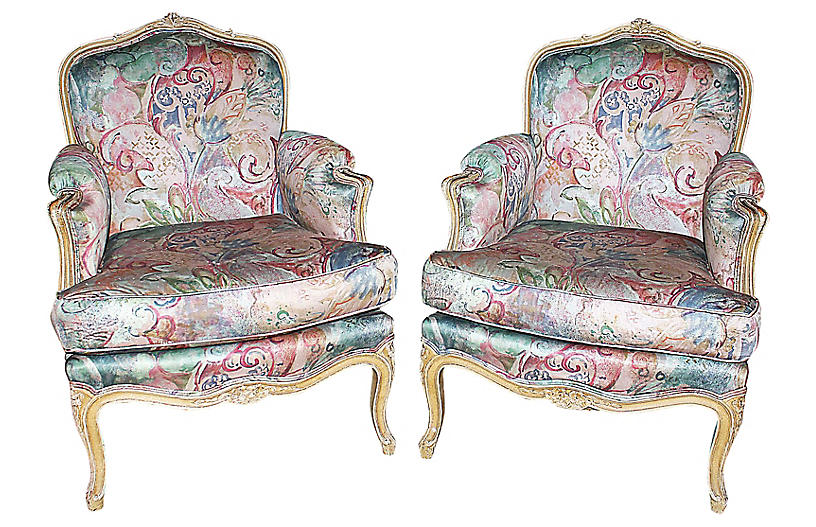 Louis XV-Style Bergères, S/2