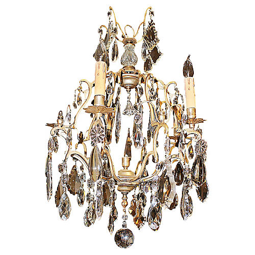 French Baccarat Birdcage Chandelier