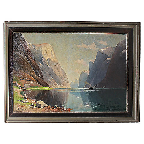 Norwegian Fjord Painting
