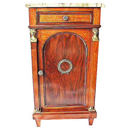 Antique French Empire-Style Nightstand